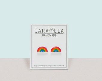 Rainbow Stud Earrings Rainbow earrings rainbow jewelry Gift idea for her
