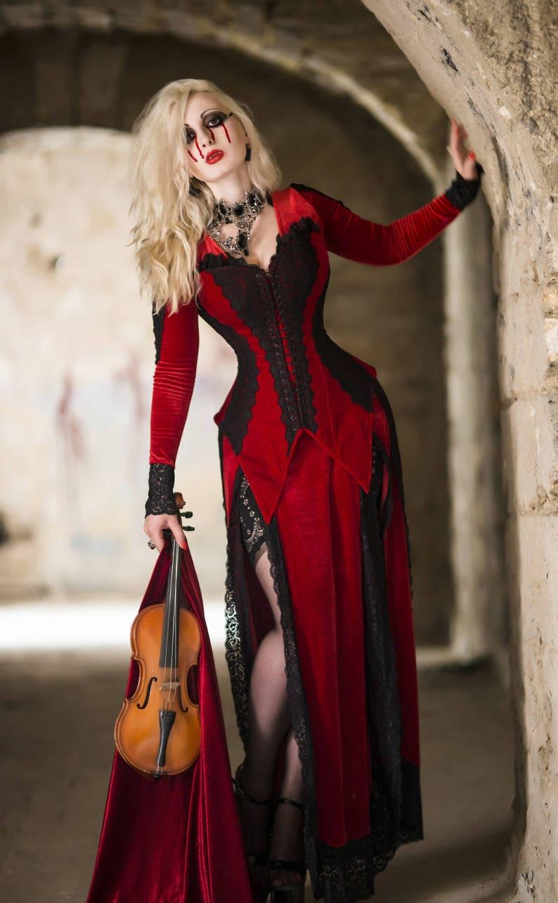 6635b2f7a14 Fantasy dress Vampire dress Red and black gothic dress