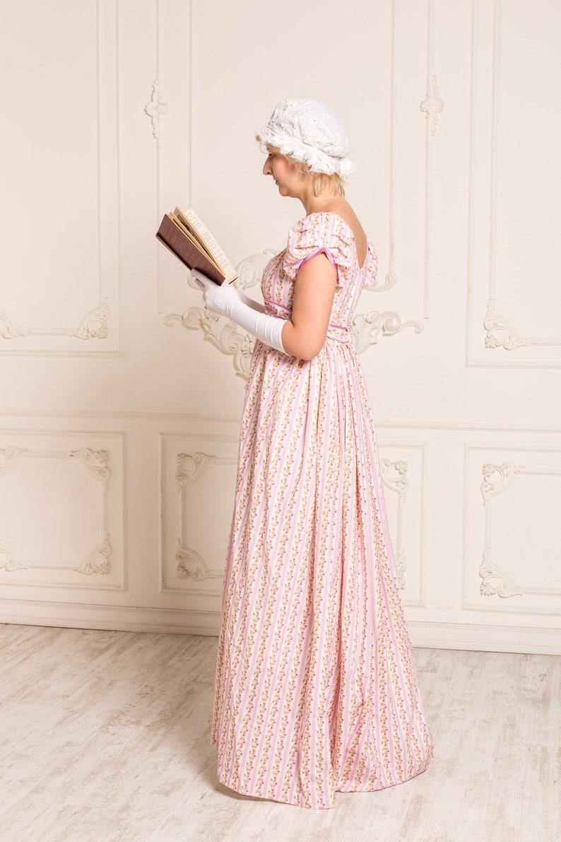 f7d2965dbaf Rose regency dress Jane Austen gown Reenactment Costume