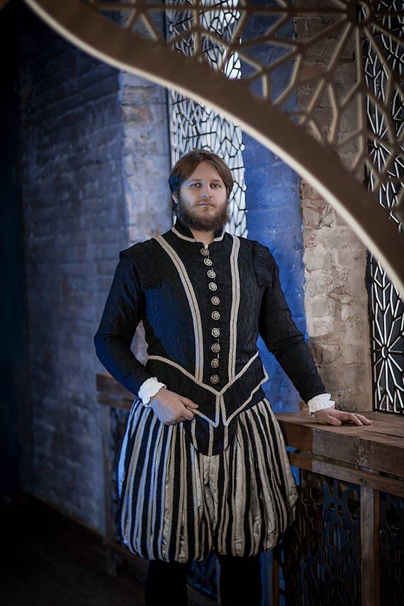 Dunklen Konig Fantasy Kostum Renaissance Manner Kleid Etsy