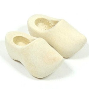 Small Wooden Shoes Rustic Gnome Shoes Wooden Gnome Shoes Fairy Shoes Fairy Garden Shoes 2.75x1.25 inches