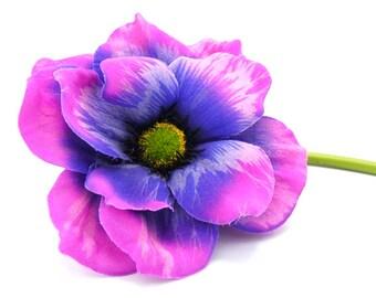 Purple silk flowers etsy jumbo purple silk flower beautiful purple flower craft flowers artificial flower fake flower wedding flower hat embellishments mightylinksfo