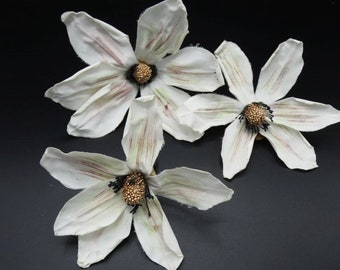3 White Lily Flower White Silk Lily Flower Artificial Flowers Fake Flowers Silk Flowers Decorative Flowers Craft Flowers