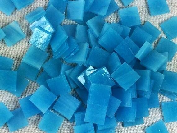Blu turchese stile tiffany vetro mosaico mm piastrella a etsy
