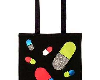 Glitter Pills OFF DUTY Tote