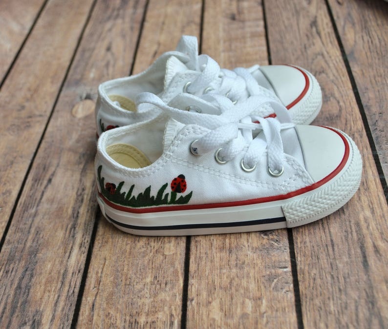 8ee3254898c8 Hand Painted Ladybug Toddler Converse