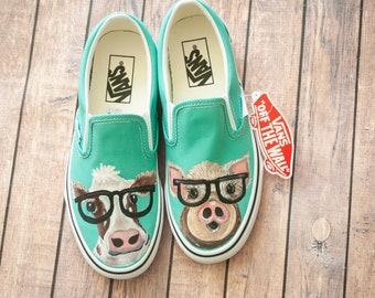 Animals With Glasses Vans
