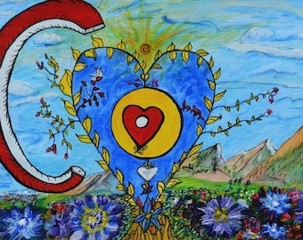 I Love Colorado by Dorje Dolma, 11 x 8.5 inches, unframed signed art print on paper