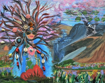 Mother Earth by Dorje Dolma, 11 x 8.5 inches ,signed art print on paper