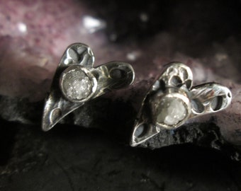 Rough Diamond Sterling Silver Studs