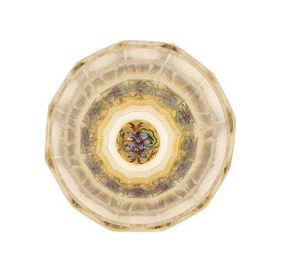 Bohemian Zwischengoldglass Flared Liqueur or Shot Glass Beaker