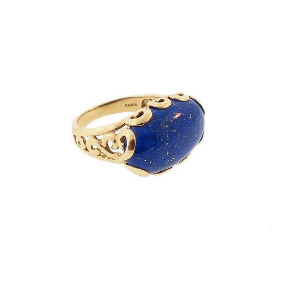 14K Gold & Afghan Lapis Ring