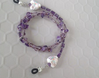 Love Purple Eyeglass Chain
