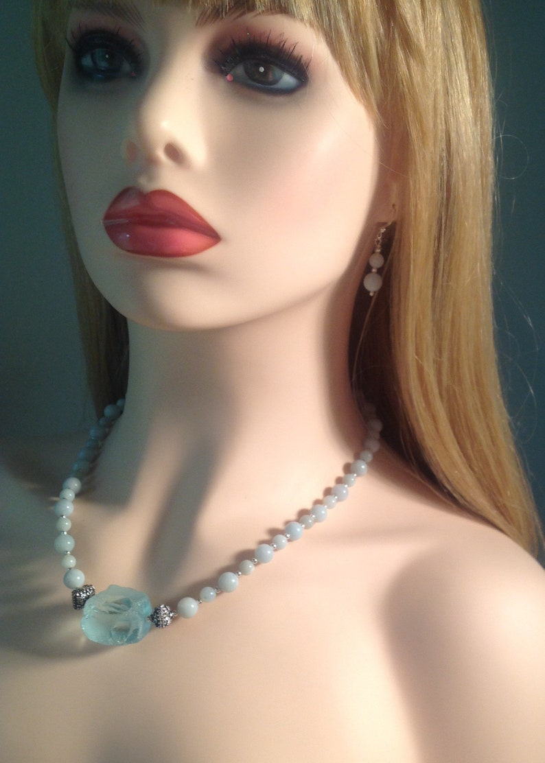 Rock Me Necklace and Earrings Set