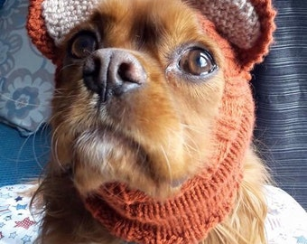 Dog snoods with ears