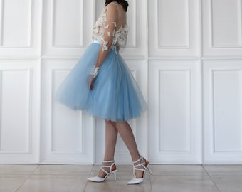 Pastel Colours In Knee Length Tulle Skirt/ Many Colours Available in High Quality Tulle/ Wedding Tulle Skirt/ Bridesmaid Tulle Skirt