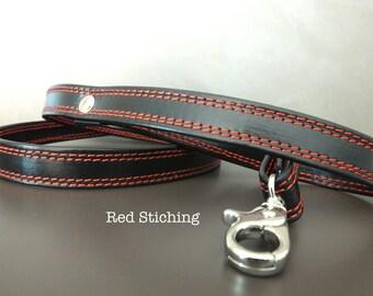 COLORED SEAMS Leash. Leather Leash. coordinated collar leash. Guinzaglio. Guinzaglio Pelle. Dog Leash. collar leash set. collar lead.