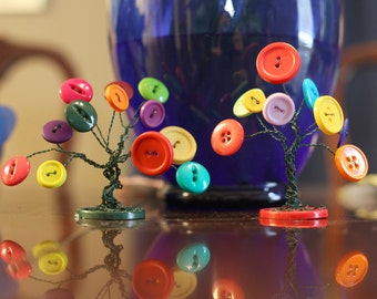 Wire button tree home decor table decoration colorful button wire tree knick knacks cake topper decoration willow birch tree