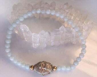 Aventurine Buddha Bracelet, HEALING, Reiki, Meditation, Spiritual Jewelry