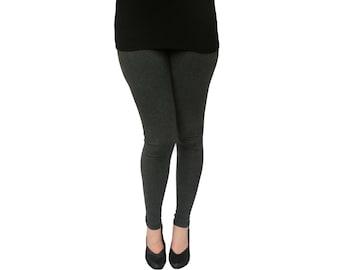 Womens Leggings - Cotton Leggings - Ankle Length Legging -  Solid Color Leggings - Yoga Leggings - Ladies Leggings - Yoga Clothes Women