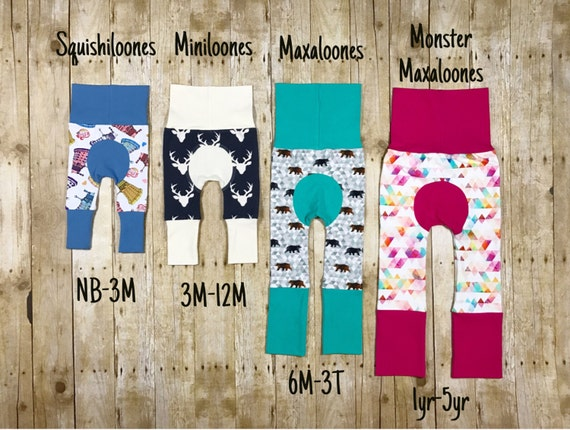 size 1,ugly Christmas sweater,grow with me pants,cloth diaper pants,toddler leggings,baby leggings,baby gift,baby shower Maxaloones