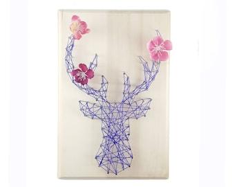 DIY kit deer design - Nursery decor - String art kit- Nursery wall art - kid room - birthday gift  - Deer pattern