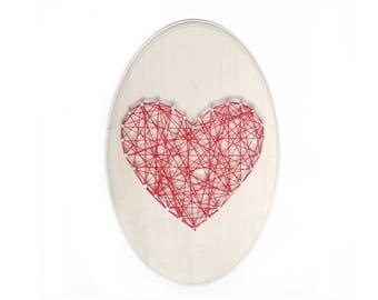 DIY Love sign, Love String art, DIY kit, Heart string art, love gift, mother gift, nursery room