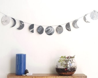Moon phase, moon cycles, DIY kit, Moon decor, moon Wall hanging