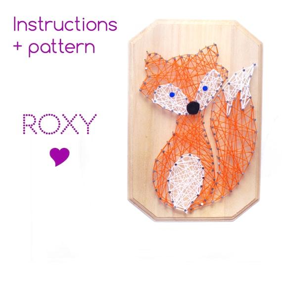 String Art Tutoriel Modele Roxy Le Renard Etsy