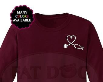 a54c336c Stethoscope Heart Medical Custom Long-Sleeved T-shirt (S-5XL) Medical  School Gift, Nurse Gift, Dr Gift, Medical Shirt, EMT Shirt, Doctor