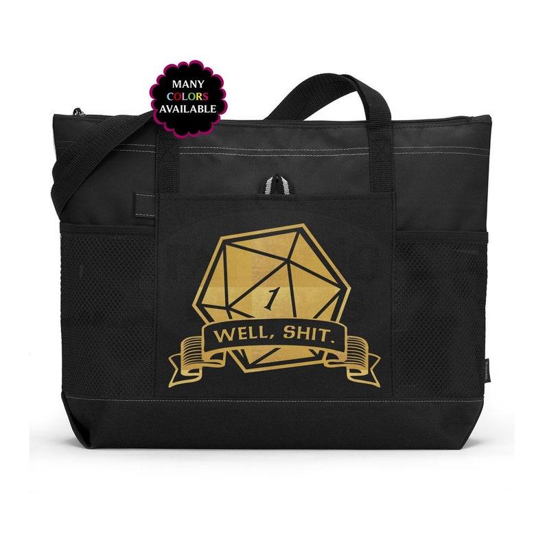 ab97df69a1c Critical Fail Well Shit D D Custom Zippered Tote Bag Gaming