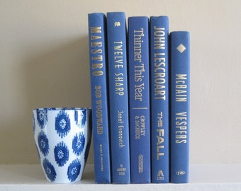 Blue Decorative Books Set, Blue Book Collection, Stack of Books, Wedding Centerpiece, Books by Color, Blue Book Bundle, Blue Decor, Shelf