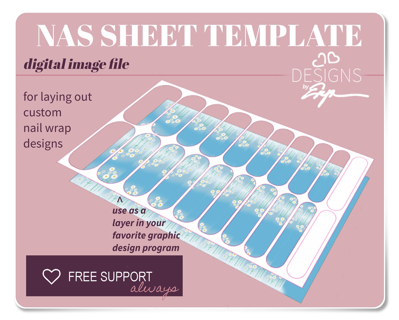 nail wrap template www