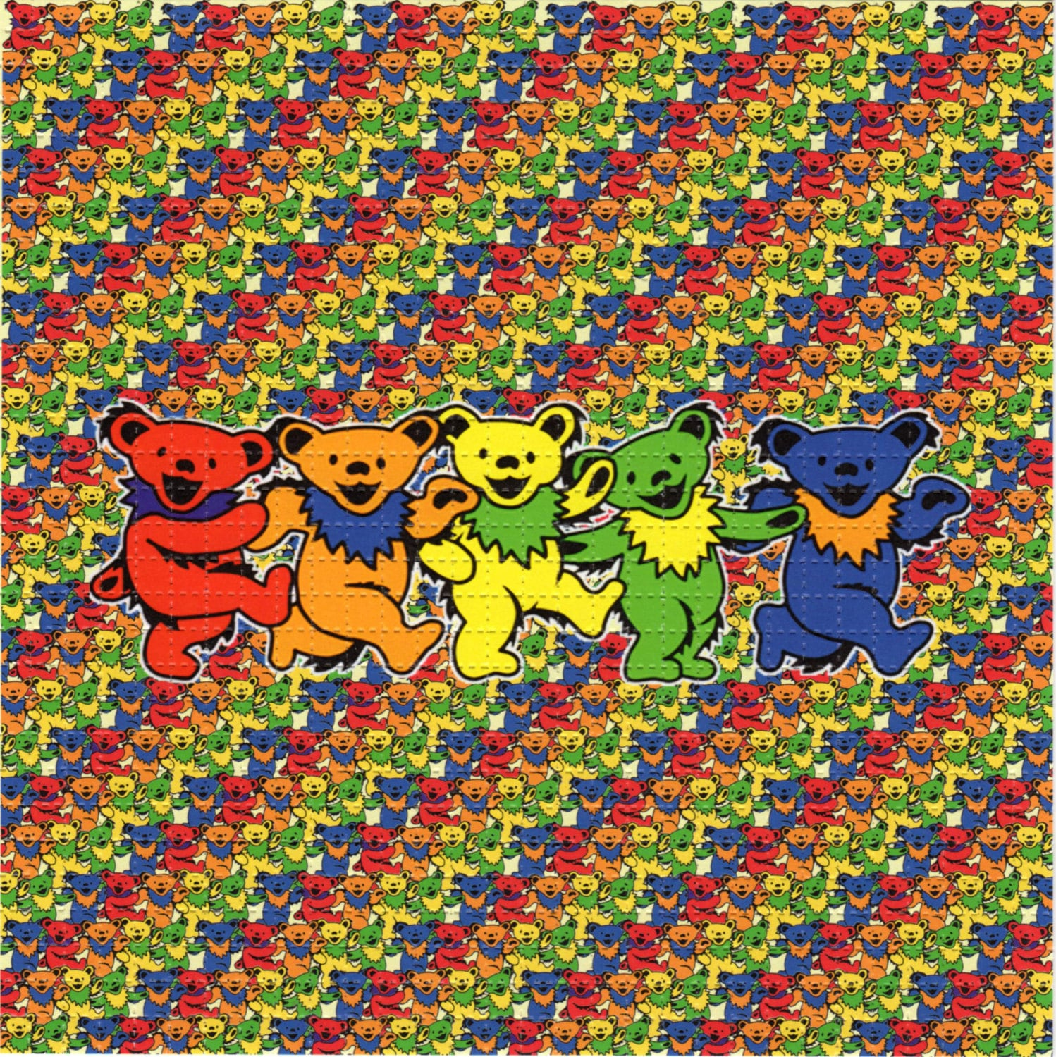 Grateful Dead Dancing Bear Family BLOTTER ART perforated | Etsy