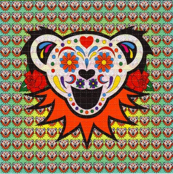 sugar bear grateful dead blotter art perforated acid art etsy
