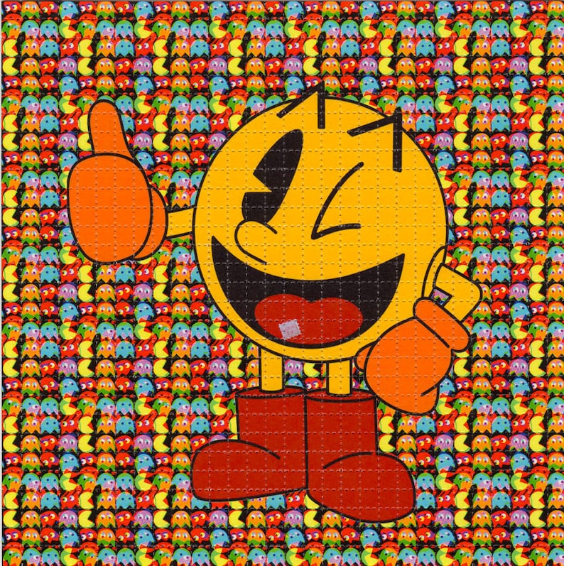 Pac Man Blotter Art Perforated Acid Art Paper Kesey Leary Etsy
