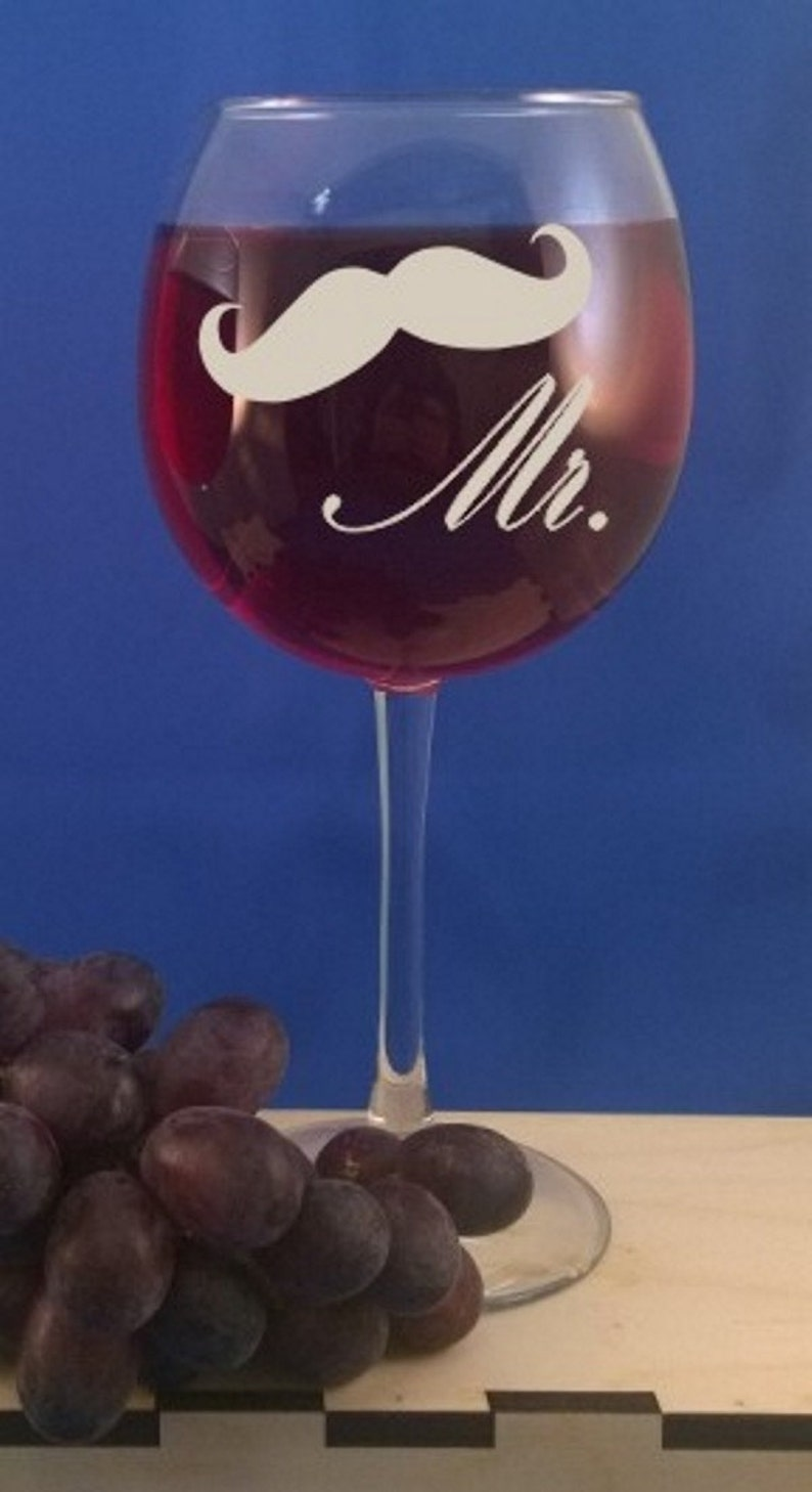 Personalized 16 oz Red Wine glass-Bridesmaid Gift-Wedding image 0