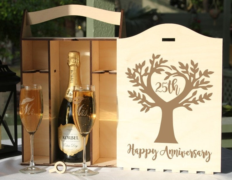 Personalized Champagne boxEngraved Champagne BoxChampagne image 0
