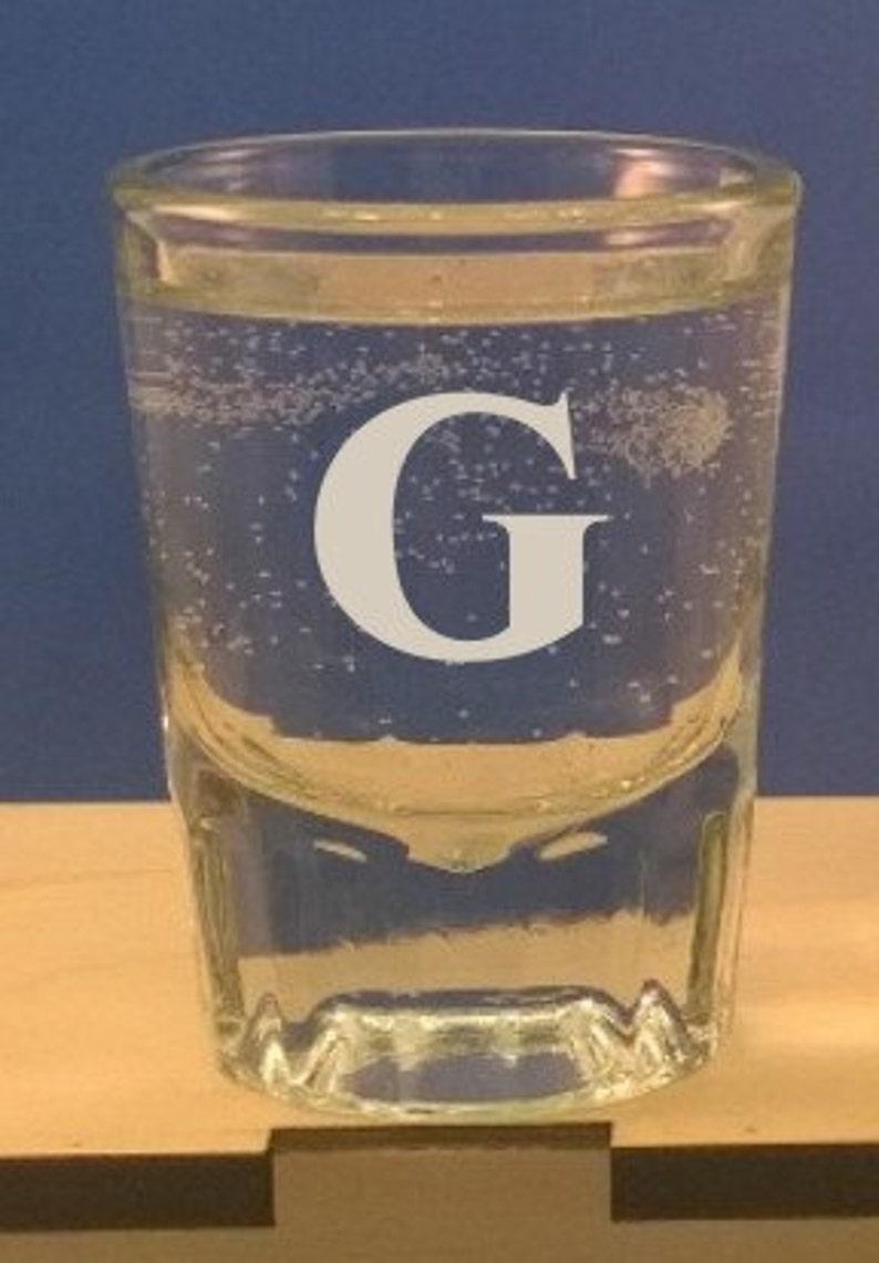 Personalized 2 oz Shot Glass-Groomsman-Bachelor Party image 0