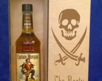 Wood Single Bottle Tall 750 ml Spirits box-personalized spirits box-Weding gift box-Graduation gift-Presentation box-liquor caddy-retirement