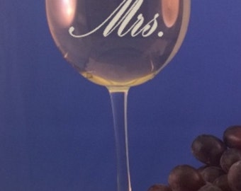 Personalized 16 ounce White wine glass-Mothers Day-Wedding Party-Anniversary-Free Engraving-Bridesmaids-Mother of the Bride-Wedding Gift