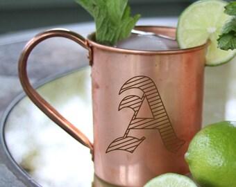 Moscow Mule Mug,Solid Copper Mug,Copper Moscow Mule Mug,Engraved Mule Mug,Personalized Moscow Mule Mug,Embossed Moscow Mule Mug,Copper Mug