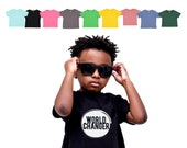 Kids World Changer Shirt - Child Activist - Raising Word Changers - Little Changer