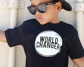 Kids World Changer Shirt - Child Activist - Raising Word Changers - Little Changer