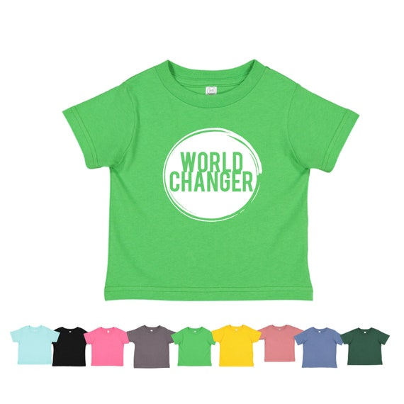 Kids World Changer Shirt Child Activist Raising Word   Etsy 5386aefefd