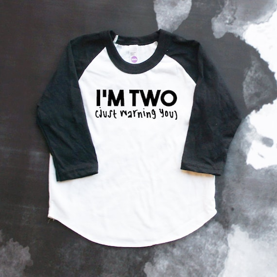 Im TWO Baseball Shirt 2nd Birthday Second