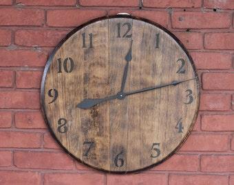 Kentucky Bourbon Barrel Head Clock