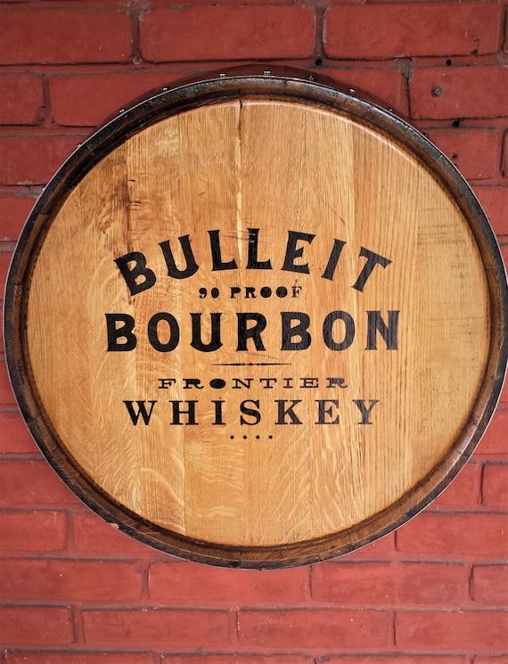 Bulleit Bourbon Quarter Barrel Wall Decor. | Etsy