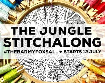 The Jungle Instagram STITCHALONG Embroidery Pattern. Plants Digital Download Pdf Pattern. Jungle Stitchalong Embroidery Pattern