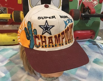 c85f6b66300 Vintage 90s Big Logo Dallas Cowboys Superbowl XXX Champions Snapback Hat -  Logo 7 - Spellout all over